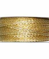 1x hobby versiering metallic gouden sierlinten 3 mm x 25 meter