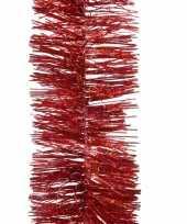 1x kerst rode glitter kerstslingers 270 cm kerstboom versieringe