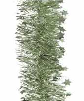 1x salie glitter kerstslingers 10 cm breed x 270 cm kerstversiering