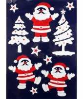 1x velletje kerst raamversiering kerstmannetjes raamstickers 28 5 x 40 cm