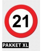21 jarige verkeerbord versiering pakket xl