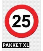 25 jarige verkeerbord versiering pakket xl