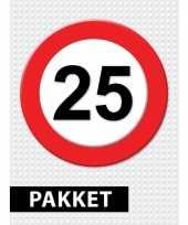 25 jarige verkeerbord versiering pakket