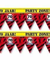 2x 70 jaar party tape markeerlinten waarschuwing 12 m versiering