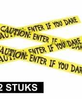 2x caution versieringlint geel 6 meter
