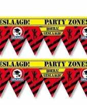 2x geslaagd party tape markeerlint waarschuwing 12 m versiering