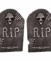 2x horror versiering grafstenen rip 50 cm