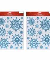 2x kerst raamstickers raamversiering sneeuwvlok plaatjes 10145437