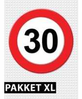 30 jarige verkeerbord versiering pakket xl