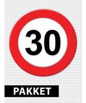 30 jarige verkeerbord versiering pakket