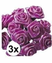 36 versiering rozen donker roze 12 cm