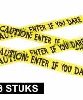 3x caution versieringlint geel 6 meter