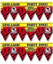 3x geslaagd party tape markeerlint waarschuwing 12 m versiering