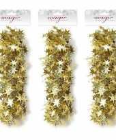 3x gouden sterren slingers 3 5 x 750cm kerstboom versieringen