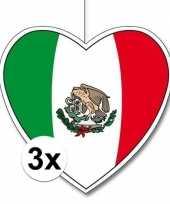 3x mexico hangversiering harten 28 cm
