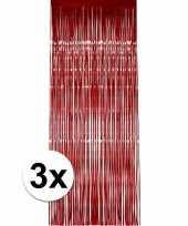 3x rood versiering deurgordijn