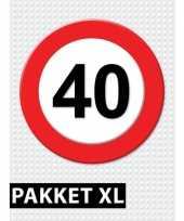 40 jarige verkeerbord versiering pakket xl