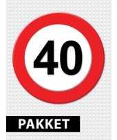 40 jarige verkeerbord versiering pakket