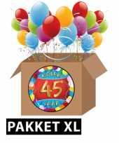 45 jarige feestversiering pakket xl