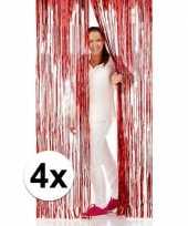 4x rode versiering deurgordijn