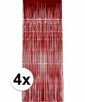 4x rood versiering deurgordijn