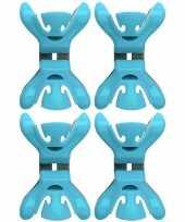 4x slingers versiering ophangen slingerklemmen blauw