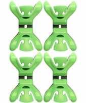 4x slingers versiering ophangen slingerklemmen groen