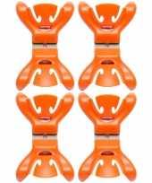 4x slingers versiering ophangen slingerklemmen oranje