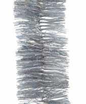 4x zilveren glitter kerstslingers 270 cm kerstversieringen