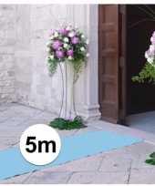 5 meter lichtblauwe versiering loper 1 meter breed