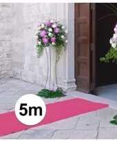 5 meter lichtroze versiering loper 1 meter breed