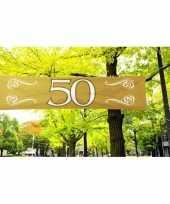 50 jaar versiering banner 180 x 40 cm