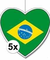 5x brazili hangversiering harten 28 cm