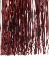 5x donker rode kerstversiering folie slierten 50 cm