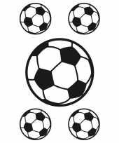 5x raamstickers voetbal raamversiering