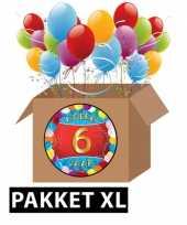 6 jarige feestversiering pakket xl