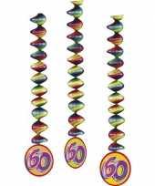 60 jaar versiering spiralen 3x