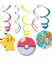 6x pokemon themafeest rotorspiralen hangversiering