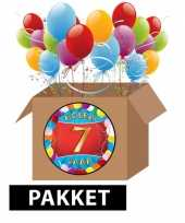 7 jarige feestversiering pakket
