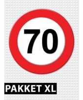70 jarige verkeerbord versiering pakket xl