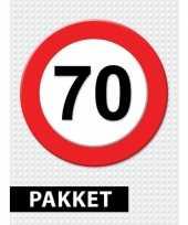 70 jarige verkeerbord versiering pakket
