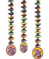75 jaar versiering rotorspiralen 6x stuks