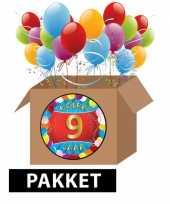 9 jarige feestversiering pakket