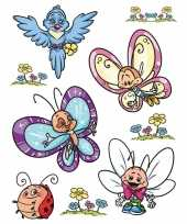 9x raamstickers vlinders raamversiering