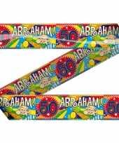 Abraham 50 jaar versiering markeerlinten markeerlinten