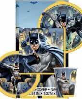 Batman themafeest tafelversiering pakket 8 personen