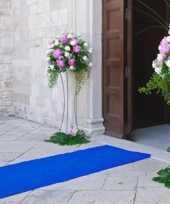 Blauwe versiering loper 1 meter breed