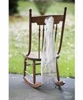 Bruiloft stoel versiering met organza