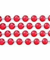 Bruiloft tafelversiering kristal slinger rood