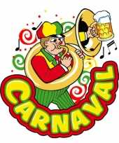 Carnaval versieringbord muzikant 35 x 40 cm